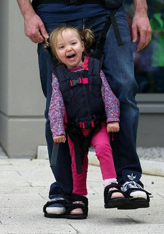 Dad designed shoes for her paralized daughter