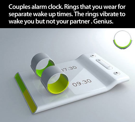 Rings alarm clock
