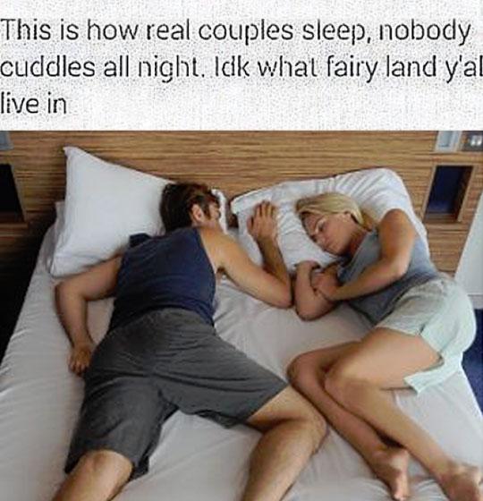The Way Real Couples Sleep