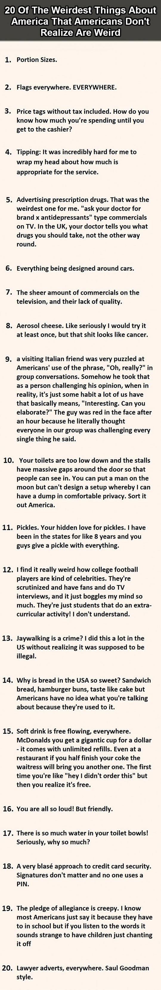 The Weirdest Things About America