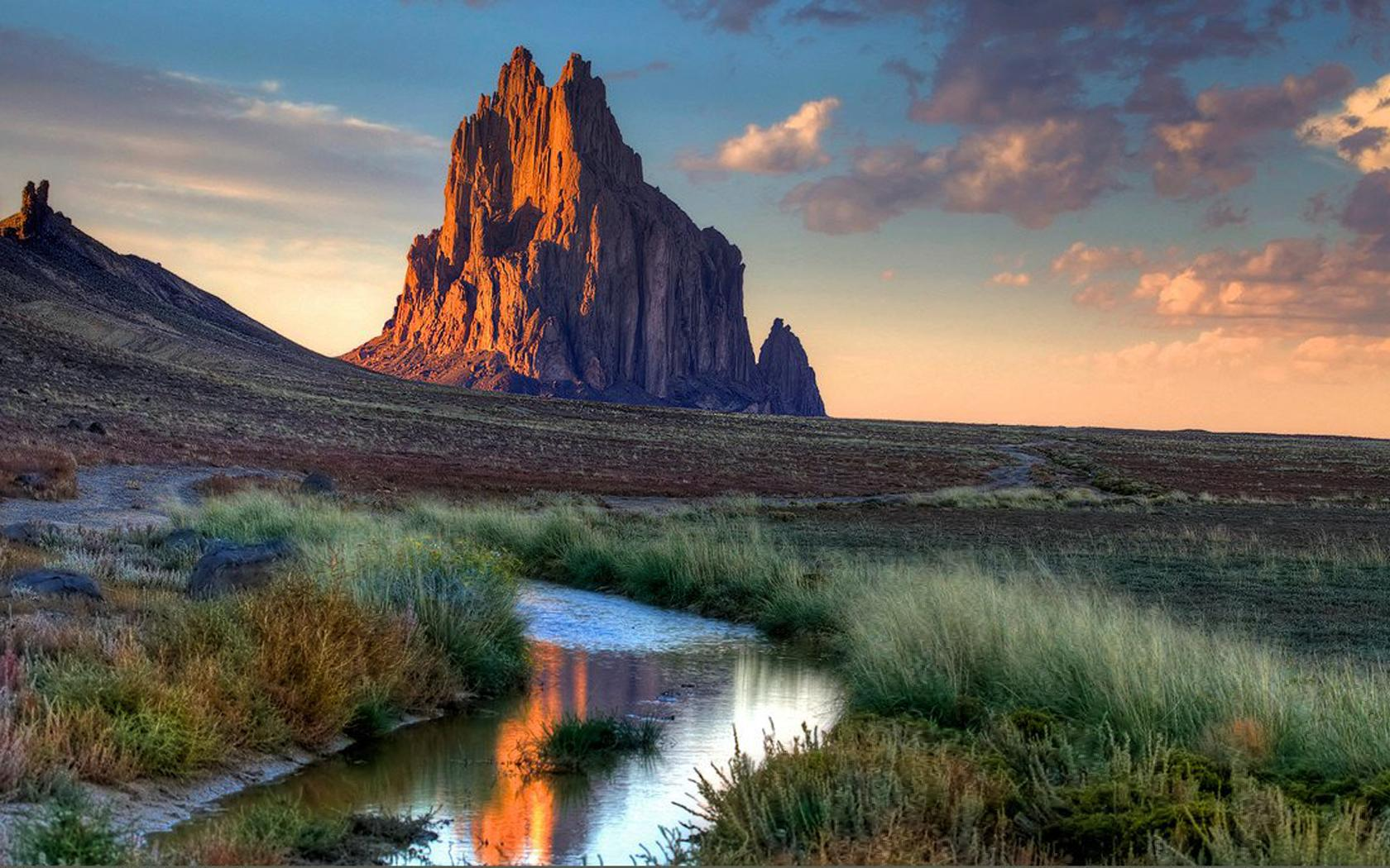 Beautiful View In Shiprock - New Mexico