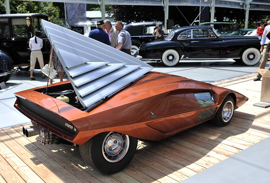 Engine hood of a 1970 Lancia Stratos Zero concept car