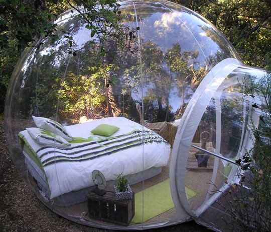Perfect Bubble Bed Surrounded By Nature