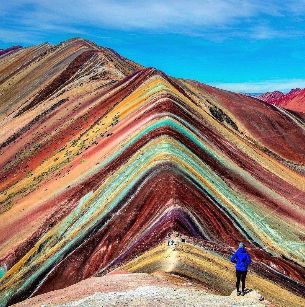 Rainbow Mountain in Peru.