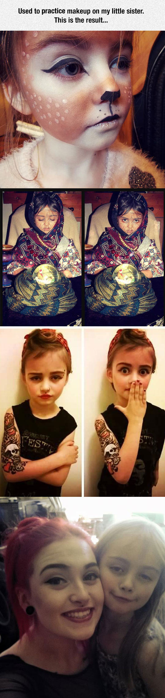 cool-baby-sister-makeup-cat-old