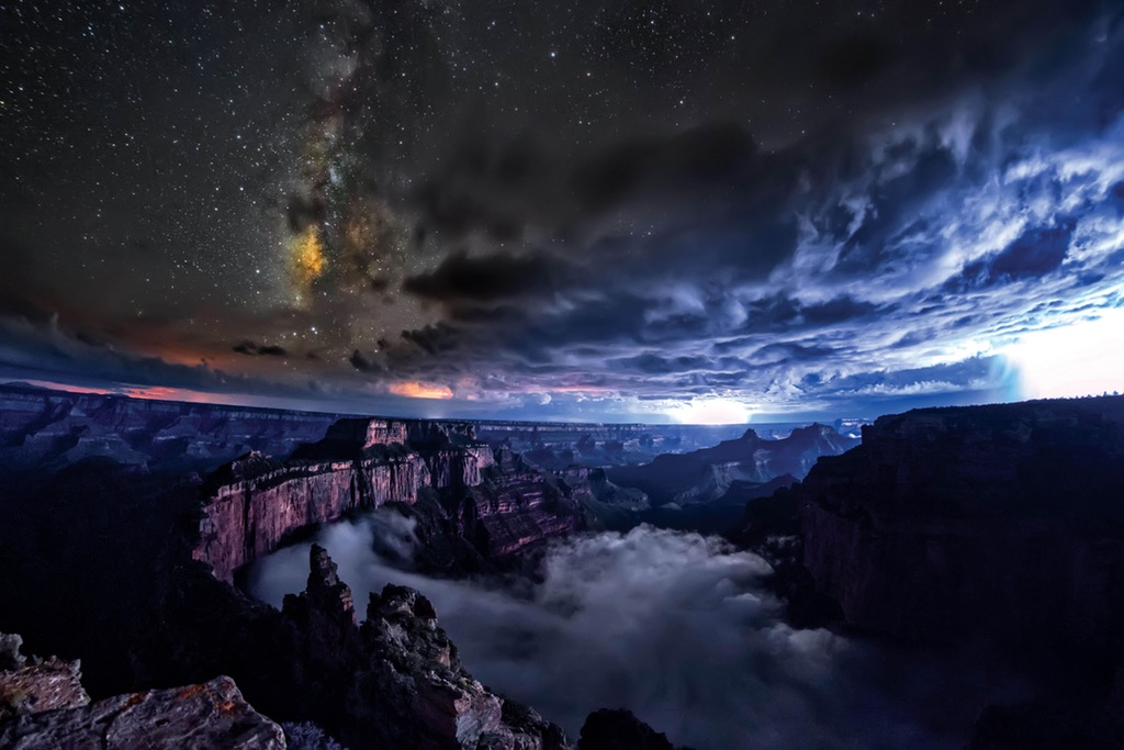 full cloud inversion, Grand Canyon