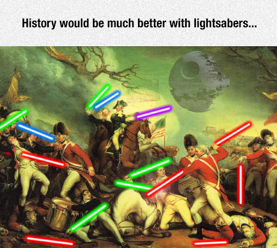 funny-American-history-painting-lightsaber-Star-Wars