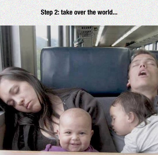 This Baby Has Evil Plans