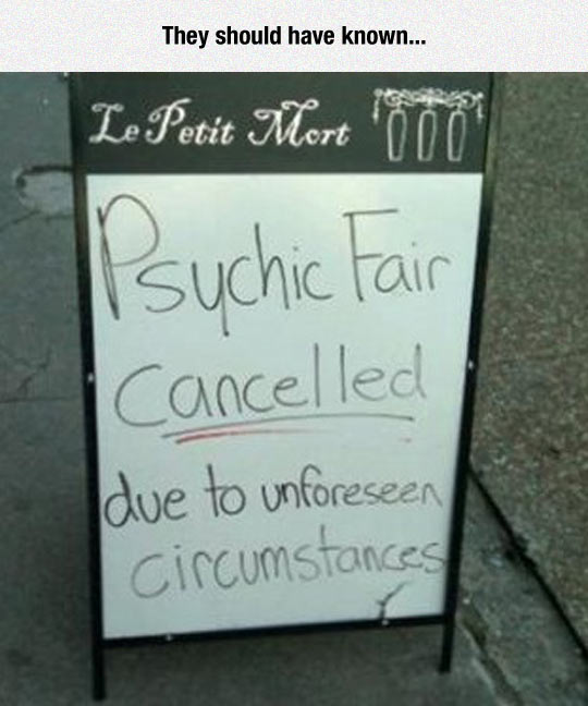 Psychic Fair Gets Cancelled