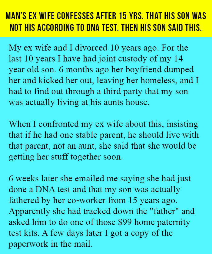Man's Ex Wife Confesses After 15 Yrs  That His Son Was Not