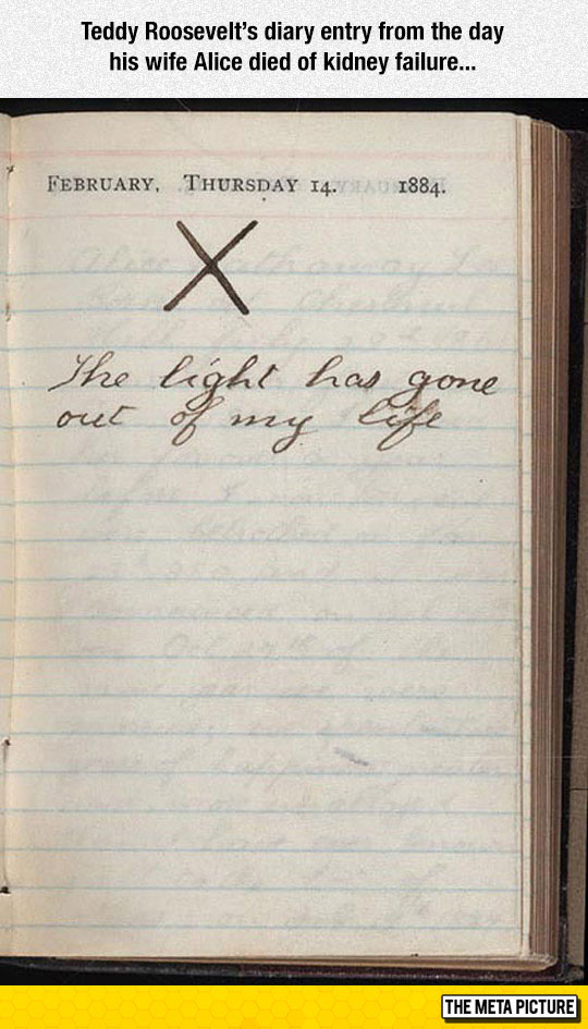 cool-Teddy-Roosevelt-diary-entry-wife-death