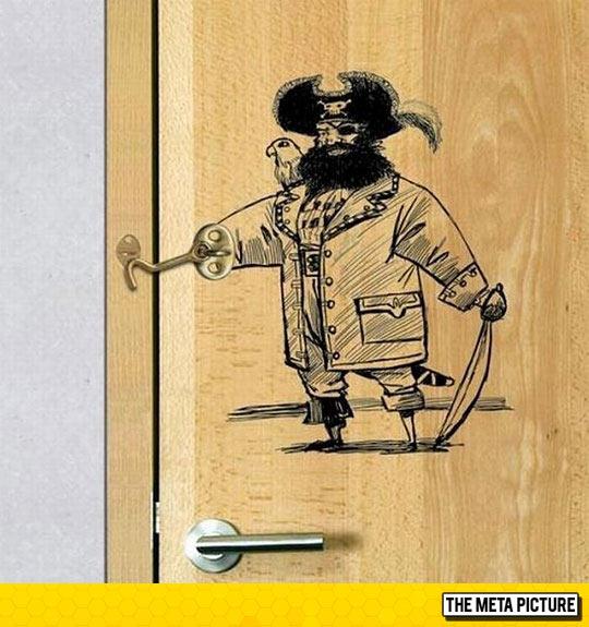 Captain Hook Keeps Your Door Locked