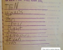 List Ten Words You Can Spell Right