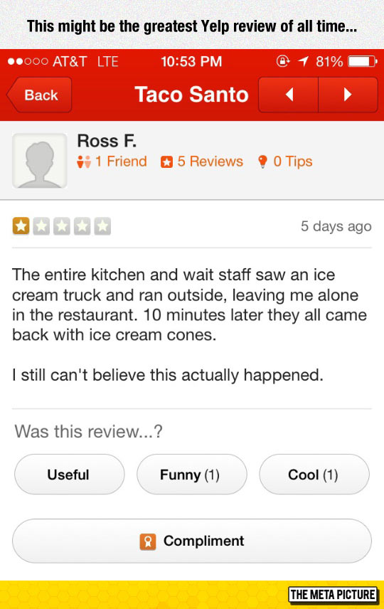 This Yelp Review Is Hilarious