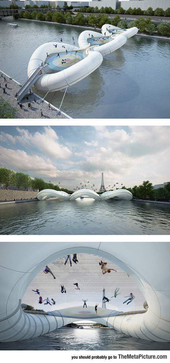 cool-inflatable-bridge-Paris-France-river