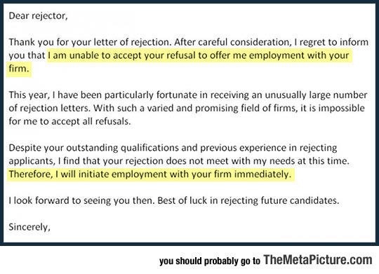 The most epic rejection letter cool rejection letter applicants thecheapjerseys Choice Image