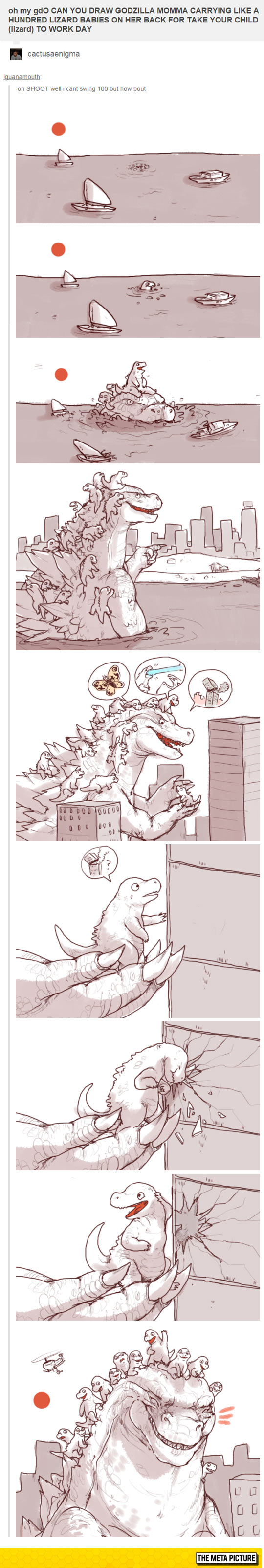 funny-Godzilla-mother-lizard-babies-drawing