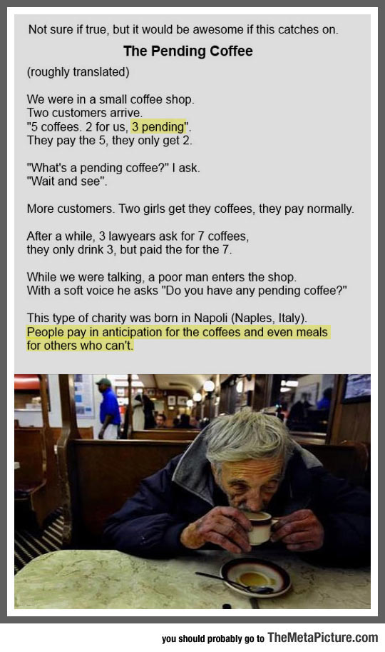 The Pending Coffee, This Should Be Everywhere