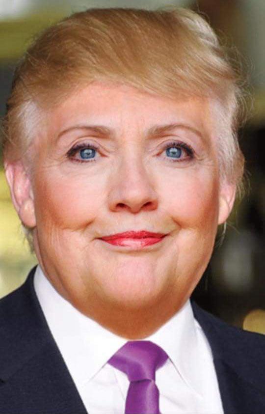funny-Donald-Trump-Hillary-Clinton-face