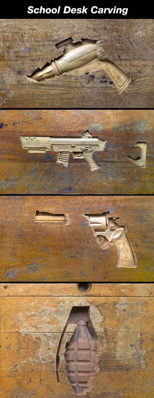 school-desk-carving-psi-fi-weapon