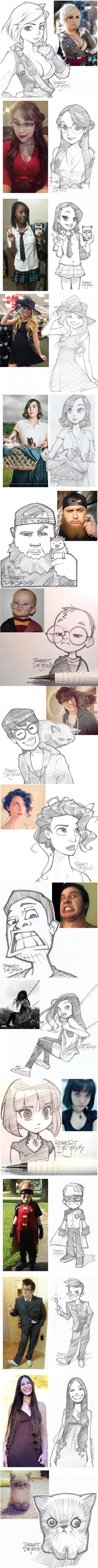 People Vs. Their Cartoon Versions