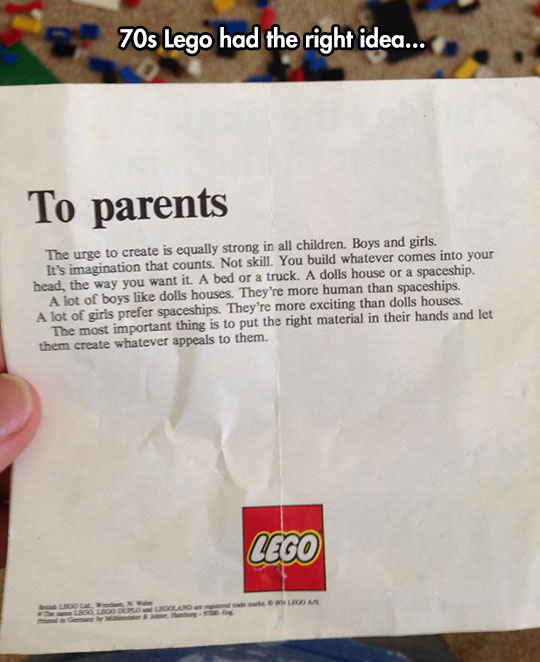 Letter From LEGO To Parents