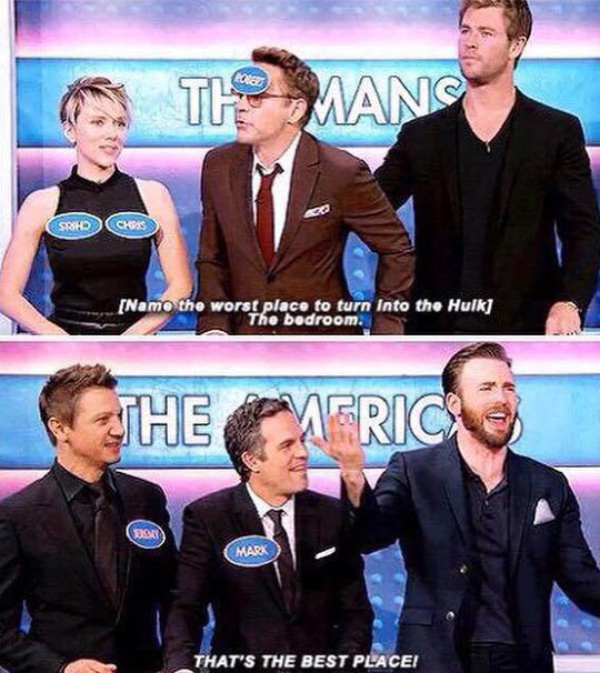 The Cast Of The Avengers Playing Family Feud