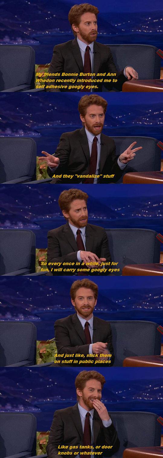 funny-Conan-Seth-Green-googly-eyes
