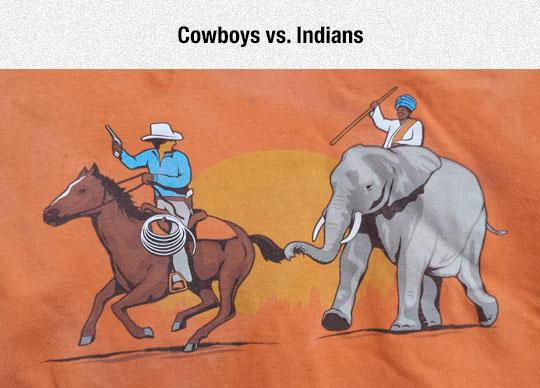 funny-cowboys-Indians-elephant-shirt