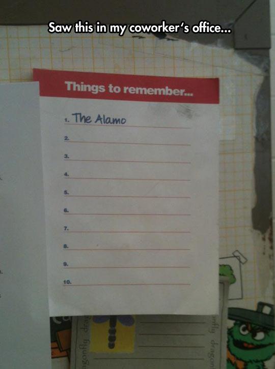 Everyone Remembers The Alamo