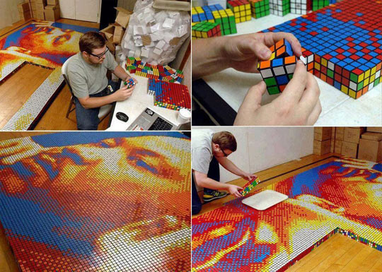 Rubik Cube Art