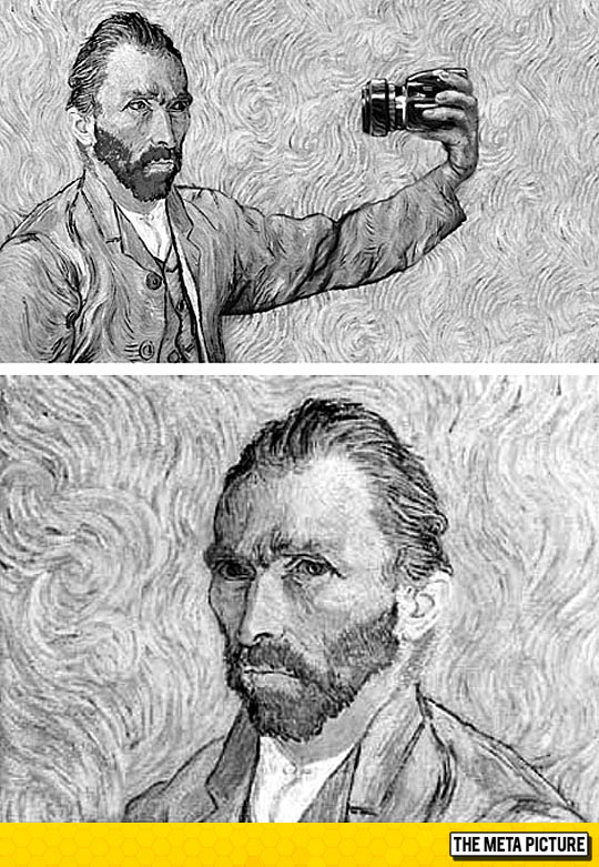 cool-Van-Gogh-taking-his-picture