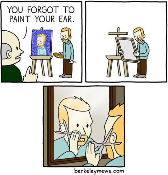 cool-cartoon-Van-Gogh-ear-painting
