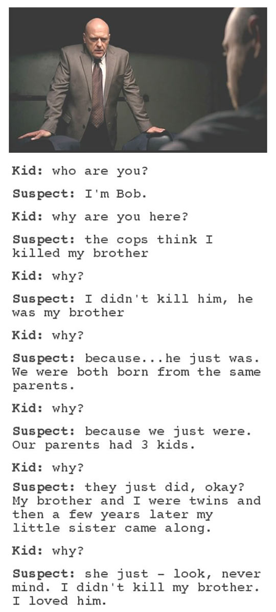 Law Enforcement Should Use 4-Year-Old Kids To Do Interrogations