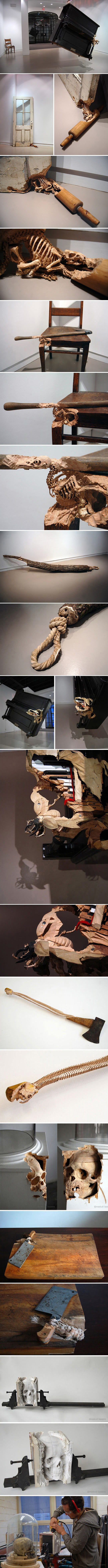 funny-Maskull-Laserre-wood-carving-sculptures-piano