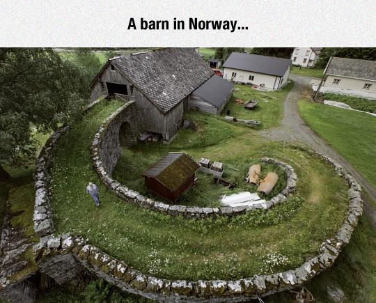 cool-Norway-farm-barn-bridge