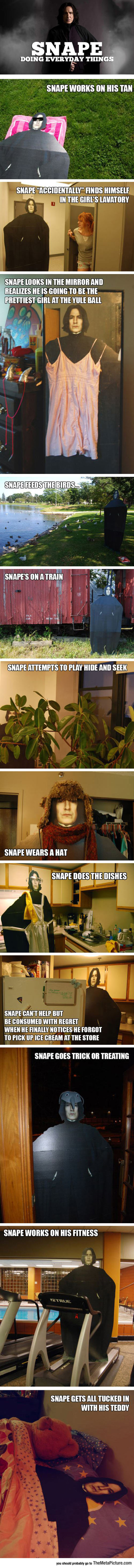 Just Snape Doing Everyday Things
