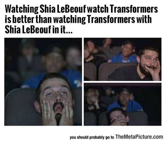 funny-Shia-LeBeouf-watching-movie-theater