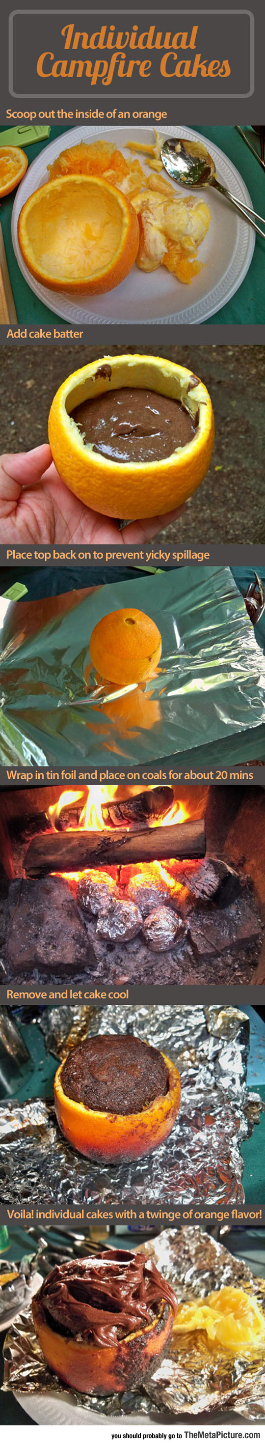 food-campfire-cakes-oranges-chocolate-fire