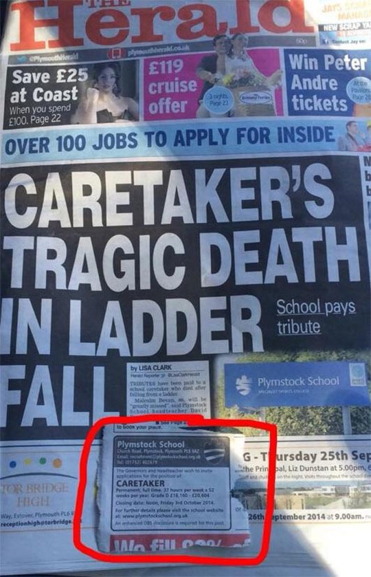 funny-newspaper-school-death-caretaker-job