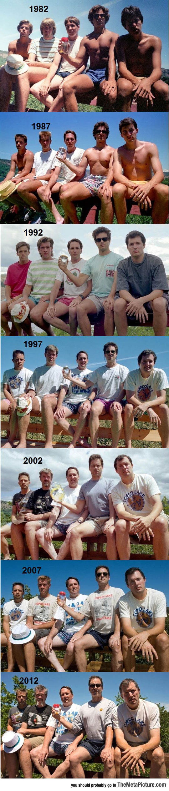 This Group Of Friends Took A Picture Every 5 Years