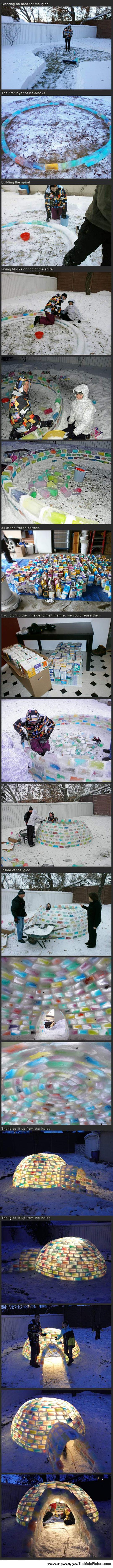 cool-igloo-building-color-bricks-backyard