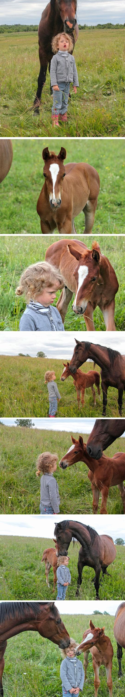 cute-girl-horse-friends-field