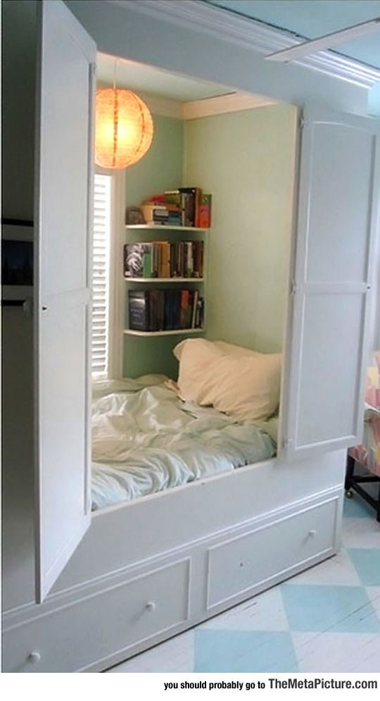 Closet Bed, It Looks So Cozy