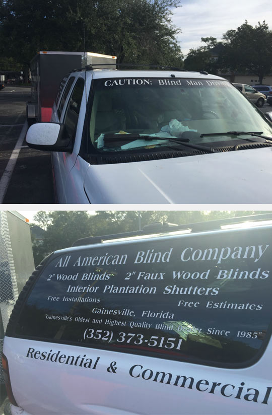 Blind Man Driving