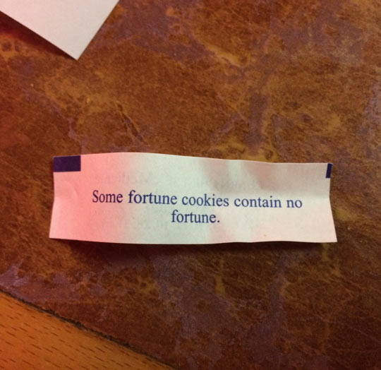 Fortune Cookie Laziness