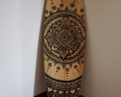 Incredible Drawing On A Long Board