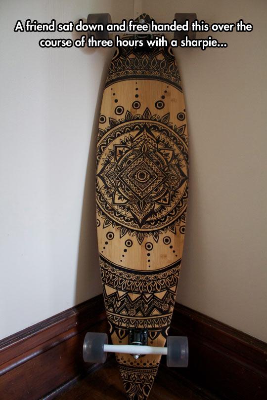 cool-long-board-tribal-drawing