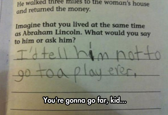 funny-kid-test-answer-Abraham-Lincoln