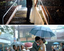 Wedding Under The Rain: Staged Vs. Real